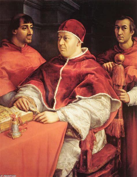 rafael retrato del papa le 243 n x con los cardenales giulio botas retrato del papa le 243 n x y dos cardenales pintura de