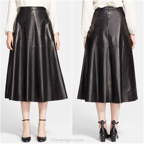 flowy leather skirt dress