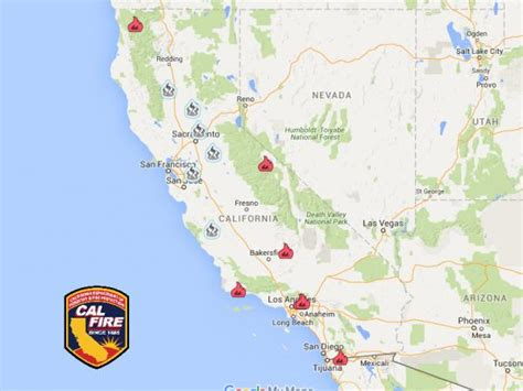 fires in california map california wildfires 9 large fires 2 deaths 100 eds of homes destroyed live trading news