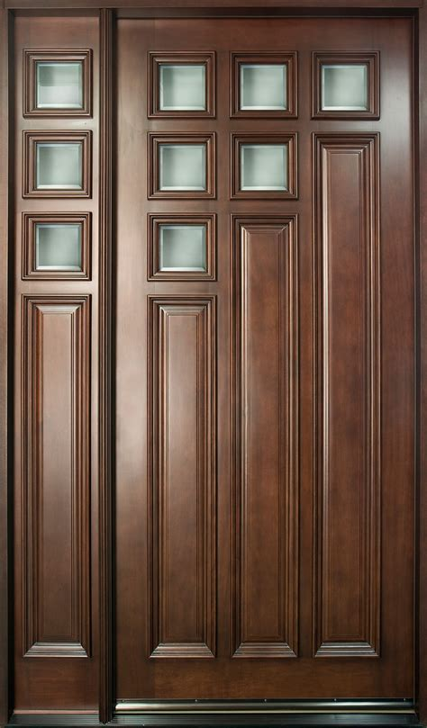 Solid Mahogany Exterior Doors Entry Door In Stock Single With 1 Sidelites Solid Wood With Mahogany Finish