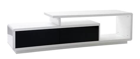 mobile tv bianco laccato mobile tv design laccato nero e bianco davy miliboo