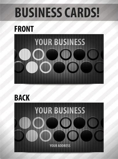 circle business card template business card template vector circle free vector in