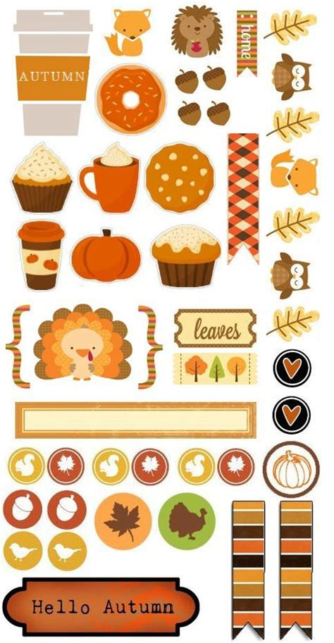 printable thanksgiving stickers 3347 best planner stickers images on pinterest happy