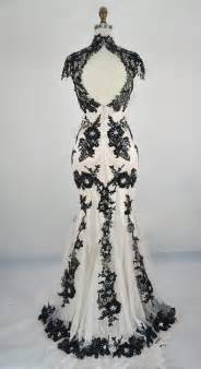 black and white wedding pics 2 black white wedding gown classic lace summer