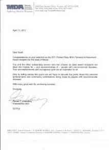 Congratulations Letter Congratulations Letter From The President And Ceo Of The Muscular Dystrophy Association Mda