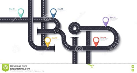 Road Trip And Journey Route Business And Journey Infographic Design Template Vector Pin Design Template