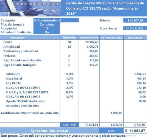 empleados de comercio liquidacin marzo 2016 ignacio online empleados de comercio liquidaci 243 n marzo 2016 ignacio online