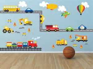 Boys Wall Sticker Truck Wall Decal Construction Wall Decal Plane Wall
