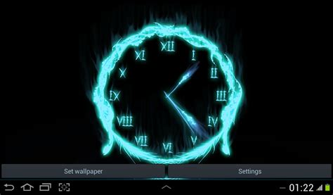 android clock themes live wallpapers fire clock live wallpaper free android live wallpaper