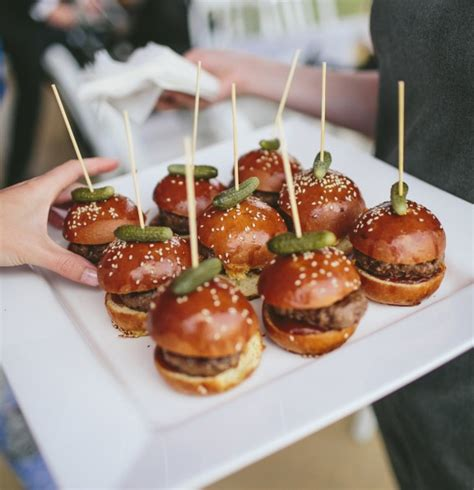 cocktail finger food mini brioche sliders the food for a