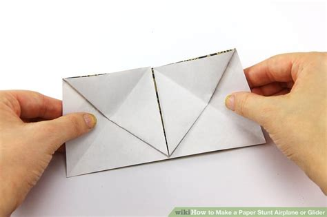 How To Make A Paper Stunt Plane - how to make a paper stunt airplane or glider 15 steps