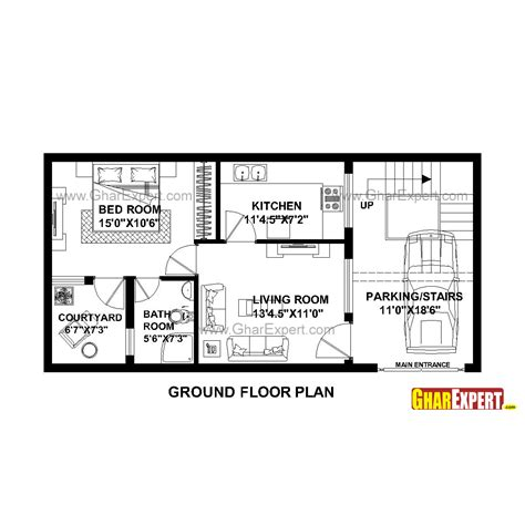 800 Square Feet Dimensions by Amazing House Plan For 20 Feet By 45 Feet Plot Gallery