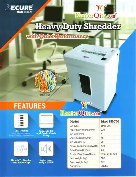 Mesin Penghancur Kertas Ukuran Besar mesin penghancur kertas paper shredder secure maxi 25 scm