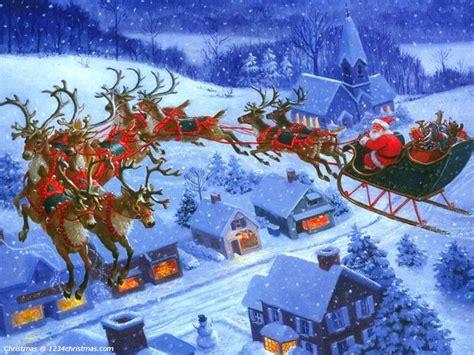wallpaper christmas reindeer 28 best santa flying reindeer sleigh wallpapers images on