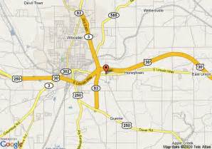 Wooster Ohio Map by Map Of Econo Lodge Wooster Wooster
