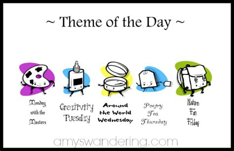 themes list for art homeschool theme of the day amy s wandering