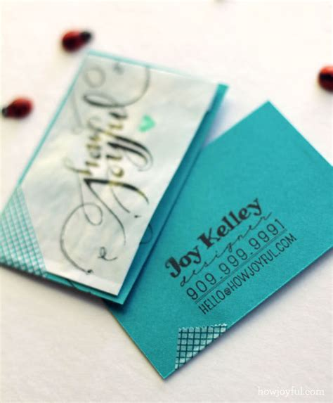 Handmade Cards Business - handmade business card designs
