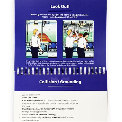 Vessel Safety Flip Chart Ocean Time Marine Vessel Safety Management System Template