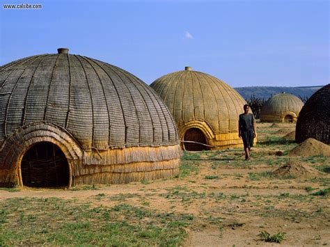 miscellaneous zulu huts south africa picture nr 18919
