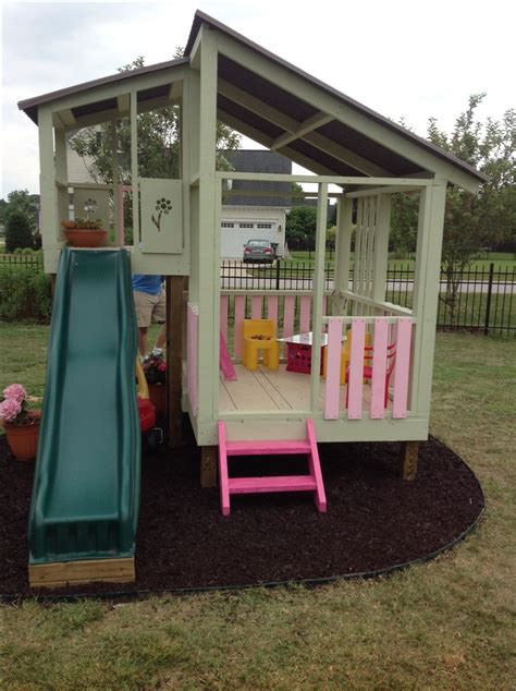 backyard kids house diy playhouse gardening pinterest outdoor playhouses