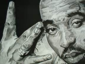 gangster pencil drawings 2pac charcoal pencil drawing illustration gangsta