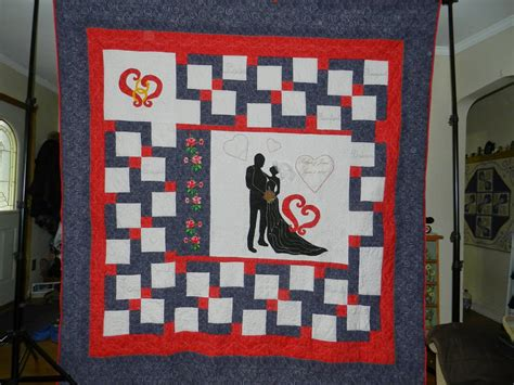 Wedding Quilt by Dinah S Quilts And Embroidery Size Quilts