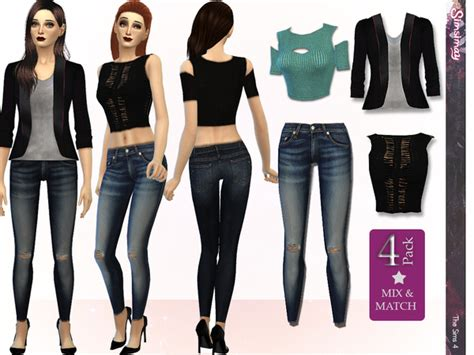 sims 4 clothing for females sims 4 updates street fashion mix match set by simsimay at tsr 187 sims 4