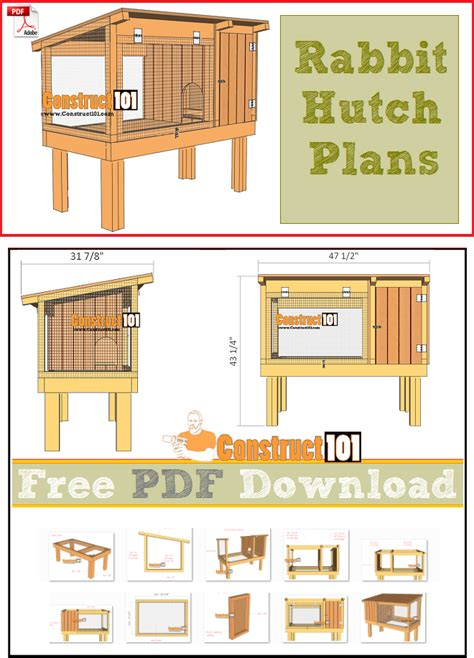 rabbit hutch plans   construct