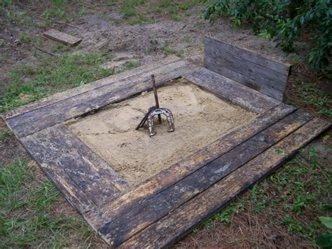 backyard horseshoes how to build a horseshoe pit
