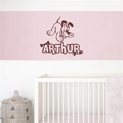 personalized name wall stickers personalized custom name pluto puppy wall decal vinyl sticker
