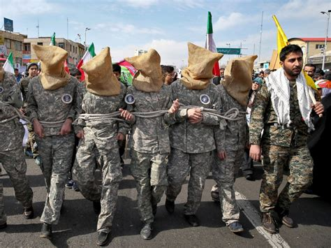 news iran iran mocks us sailors in revolution day parade abc news