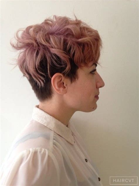 Hairstyles Queer | women undercut messy tousled hairstyle h h h air