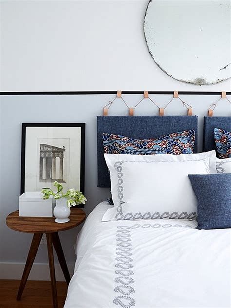 hanging fabric headboard how to make a gorgeous diy upholstered headboard one