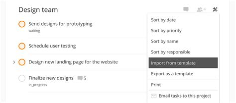 todoist project templates importing exporting project templates todoist help