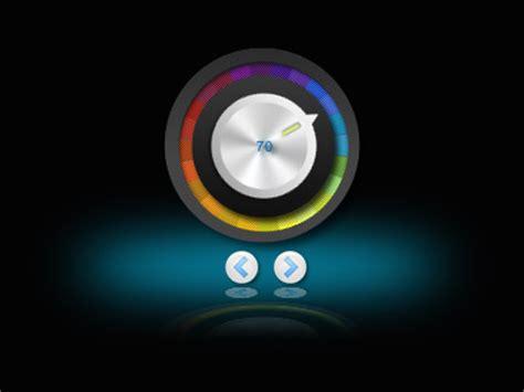 Pc Volume Knob by Metallic Volume Knob Widget Scored With Rainbow Color