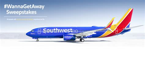 Southwest Airlines Sweepstakes - wanna get away round trip flight for 25 winners of southwest airlines sweepstakes
