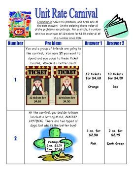 unit rate coloring page unit rate puzzle worksheet for math unit best free