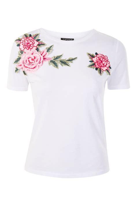 floral applique floral applique t shirt clothing topshop