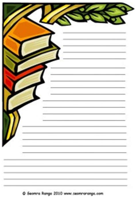 printable lined paper with book border page borders book clipart best
