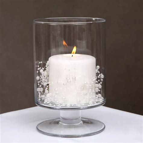 Handmade Glass Candle Holders - handmade clear glass candle holder on stand h 23 5 cmthe