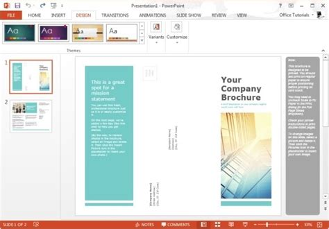 Free Brochure Templates For Microsoft Powerpoint Powerpoint Brochure Template