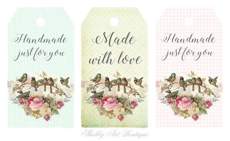 Tags For Handmade Items - printable tags for handmade projects shabby boutique