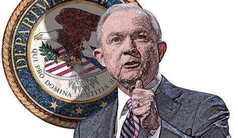jeff sessions justice jeff sessions at the department of justice illustration by