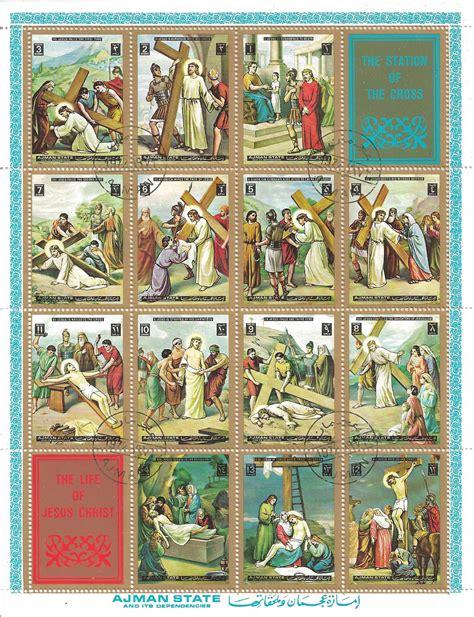 chemin de croix timbres th 233 matiques timbres religieux