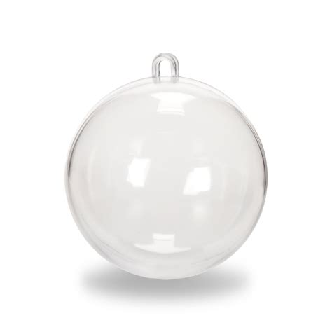 clear plastic fillable cicle hang ornaments favor