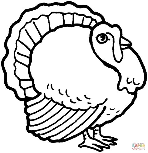 turkey coloring pages coloring pages to print turkey 4 coloring page supercoloring com