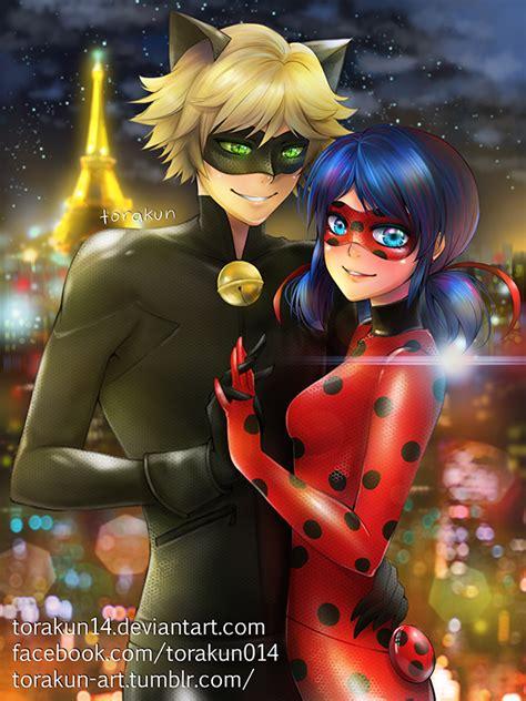 imagenes anime fanart fanart chat noir x ladybug by torakun14 on deviantart