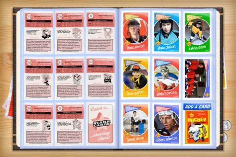 custom hockey cards template custom hockey cards retro 60 series cards