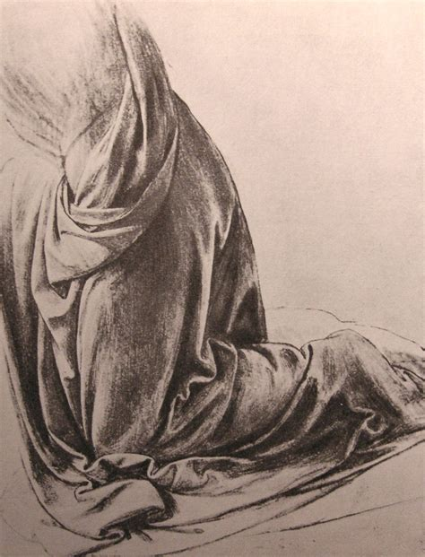 drapery drawing profile 1487 sketch leonardoda art leonardo davinci