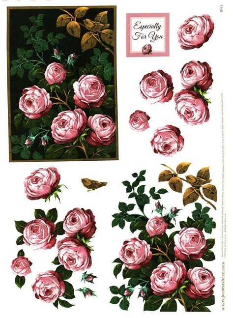 Decoupage Flowers - 441 best images about 3d decoupage floral roses on